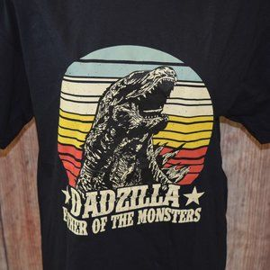 Dadzilla Father of the Monsters T-Shirt Size large